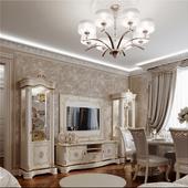 Визуализация квартиры в классическом стиле.