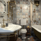 Ванная комната с намеком на стимпанк