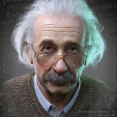 Albert Einstein 3D Portrait