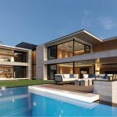 Визуализация дома в Кейптауне(сделано по референсу)