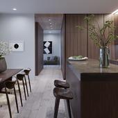 Apartment in Tadao Ando's 152 Elizabeth Street (сделано по референсу)