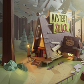 Low poly Mystery Shack