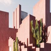 Pink Building (Работа по референсу)