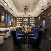 3d visualization of restorant interior (сделано по референсу)
