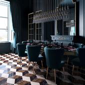 Dark living room (сделано по референсу)