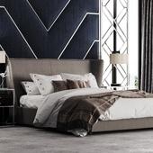 Set of Beds I Спальня I Визуализация кровати для журнала.