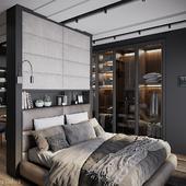Loft apartments, bedroom, LOFTEC, Moscow