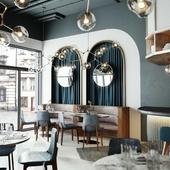 Дизайн и визуализация кафе   Vray