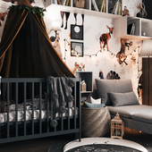 Scandinavian children's room design