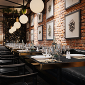 """Визуализации ресторана """"FERMA"""" в Риге."""