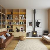Интерьер дома в скандинавском стиле (выполнено по фотореференсу)