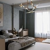 Light Complex Bedroom Visualization