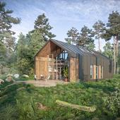 Коммерческий проект модульного дома для молодой семьи.