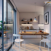 Interior visualizations. Residential project in Oslo