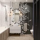 Ванная комната для молодого и целеустремленного человека =)