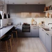 Sunset kitchen