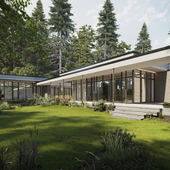 Expressive Modern Style House Blended with Nature (сделано по референсу)