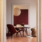Bordo Shell Chair CH07 (по референсу)