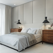 Небольшой проект спальни в одном из самых дорогих районов Москвы
