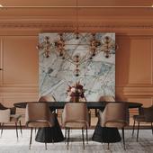 Salmon dining room