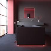 Bathroom design [ black water ]