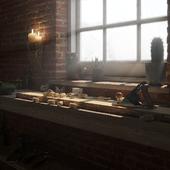 Woodworker studio.