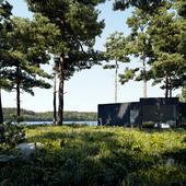 Домик на речке. Финляндия