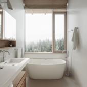 Ванная комната в скандинавском стиле (сделано по референсу)