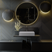 Black&Gold Bathroom / 2019