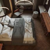 """Chocolate"" bedroom"