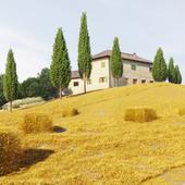 Тосканский пейзаж (сделано по референсу)