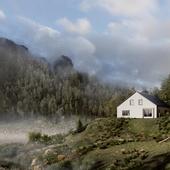 Scandinavian house 3d rendering