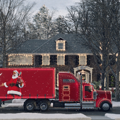 The House Of MacAllister from the movie home Alone and a coke truck