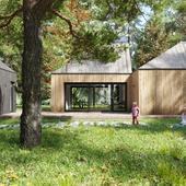 Cottage in the woods (сделано по референсу)