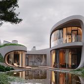 3д визуализация архитектурного проекта (сделано по референсу)
