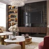 Проекта интерьеров квартиры в г. Нальчик (ЖК Golden Palace)