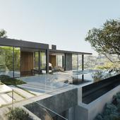 Oak Pass Luxury Residence. Beverly Hills. RENDER COPY (сделано по референсу)