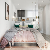 Девочковая сканди-спальня