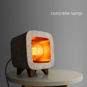 """Decorative """"Gold"""" concrete lamp (сделано по референсу)"""