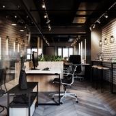 офисный интерьер в стиле лофт