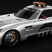 Mercedes-Benz AMG GTS safety car studio render