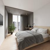 Спальня в квартире для аренды