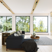 Интерьер дома в стиле скандинавского минимализма (сделано по референсу)