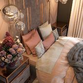 Спальня vray