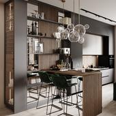 Дизайн и визуализация кухни-гостиной
