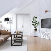 Scandinavian design apartment in Stockholm (сделано по референсу)