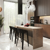 Apartment Kitchen Living Room