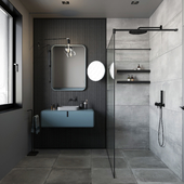 GREY&BLUE BATHROOM CONCEPT