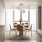 Концепт дизайна интерьеров. Гостиная-кухня