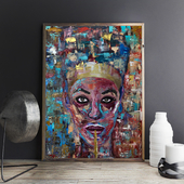"abstract painting ""Cleopatra"""